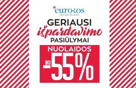 Geriausi EUROKOS IŠPARDAVIMO pasiūlymai! Nuolaidos iki -55 %!