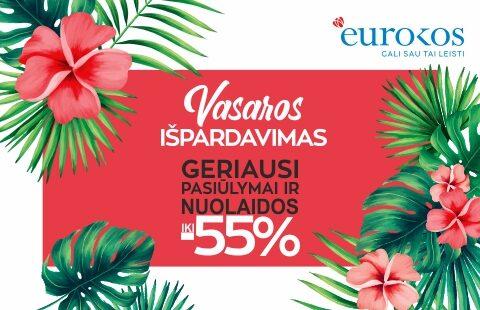 Vasaros IŠPARDAVIMAS! Geriausi EUROKOS liepos pasiūlymai ir nuolaidos iki -55 %!