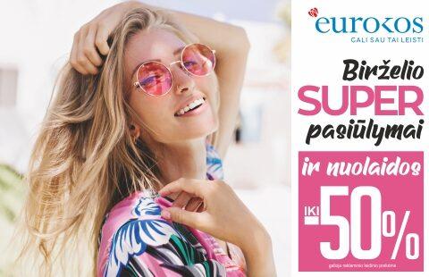 EUROKOS birželio SUPER pasiūlymai ir nuolaidos iki -50%!