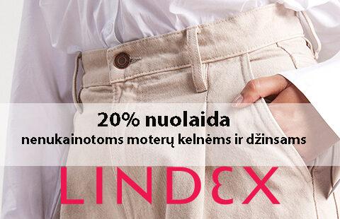 -20% nuolaida nenukainuotoms moterų kelnėms ir džinsams!