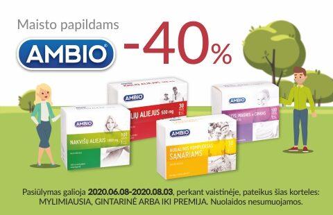 """Maisto papildams """"AMBIO"""" -40%*"""