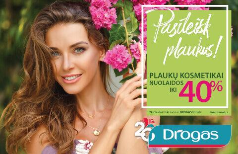 Plaukų kosmetikai nuolaidos iki 40%!