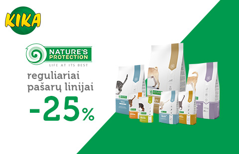 Nature's Protection pašarams -25%