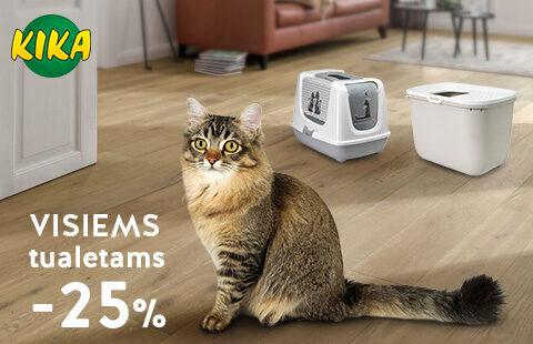 Visiems gyvūnų tualetams -25%