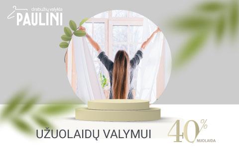 PAULINI. ŠVAROS MĖNESIS -40% UŽUOLAIDŲ VALYMUI