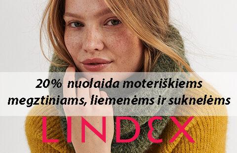 -20% moteriškiems megztiniams, liemenėms ir suknelėms