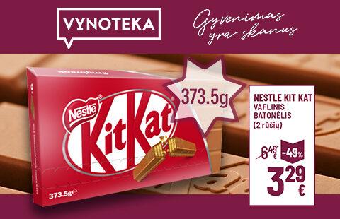 """""""Kit Kat"""" 4f Iconic 373,5 g. šokoladai tik 3,29 Eur."""