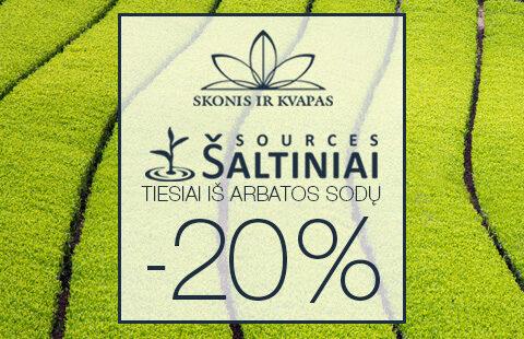 """""""Šaltinių"""" arbatoms taikoma 20% nuolaida"""