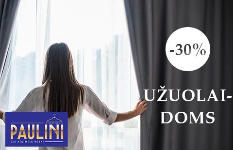 PAULINI. UŽUOLAIDŲ VALYMUI -30%