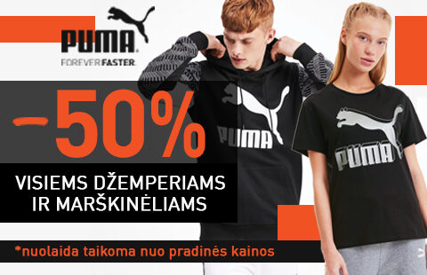 DŽEMPERIAMS IR MARŠKINĖLIAMS -50%